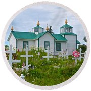 Transfiguration Of Our Lord Russian Orthodox Church In Ninilchik-ak Round Beach Towel