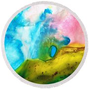 Transformation - Abstract Art By Sharon Cummings Round Beach Towel by Sharon Cummings