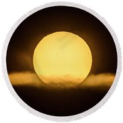 Transit Of Mercury Near Sunrise Round Beach Towel