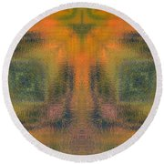 Transitional Patterns  Round Beach Towel