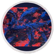 Transitions Iv Round Beach Towel