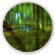Translucent Forest Reflections Round Beach Towel