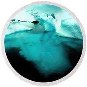 Transparent Iceberg Round Beach Towel