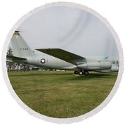 Transportation - Us Air Force - Airplane  Round Beach Towel