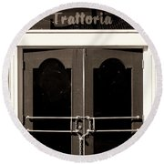 Trattoria Door Palm Springs Round Beach Towel