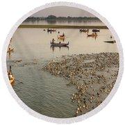 Travel Images Of Burma Round Beach Towel