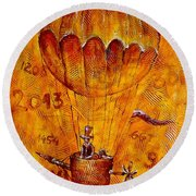 Travel In Time 651 - Marucii Round Beach Towel
