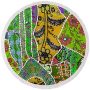 Travel Shopping Colorful Tapestry 8 India Rajasthan Round Beach Towel