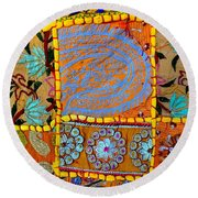 Travel Shopping Colorful Tapestry 9 India Rajasthan Round Beach Towel