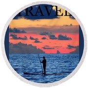 Travel Work One Round Beach Towel