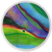 Travelers Foothills By Jrr Round Beach Towel