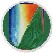 Travelers Rainbow Waterfall By Jrr Round Beach Towel