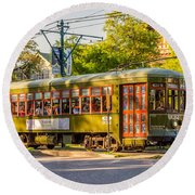 Traveling In New Orleans Round Beach Towel