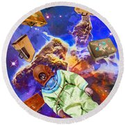Traveling Light Round Beach Towel
