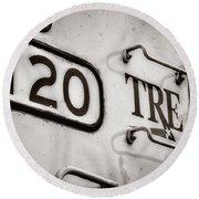 Tre 120 Round Beach Towel by Joan Carroll