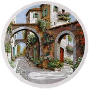Tre Archi Round Beach Towel by Guido Borelli