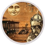 Treasure Steampunk Round Beach Towel