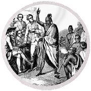 Treaty With Iroquois Indians Five Round Beach Towel