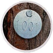 Tree 1001 Round Beach Towel