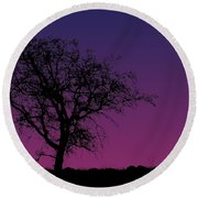 Tree And Coyote Round Beach Towel