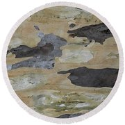 Tree Bark II Round Beach Towel