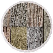 Tree Bark Round Beach Towel
