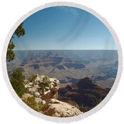 Tree Edge Round Beach Towel