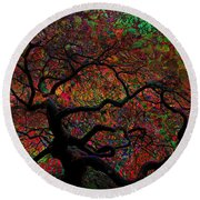 Tree Fabrica Abstract Graphic Round Beach Towel
