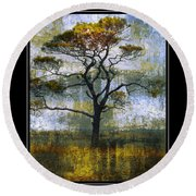 Tree Of Colours Round Beach Towel