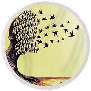 Tree Of Dreams Round Beach Towel by Paulo Zerbato