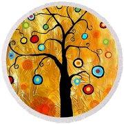 Tree Of Happiness 647 - Marucii Round Beach Towel