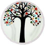 Tree Of Life Round Beach Towel