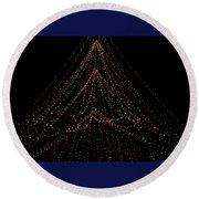 Tree Of Lights Round Beach Towel by Christi Kraft
