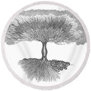 Tree Of Living Round Beach Towel