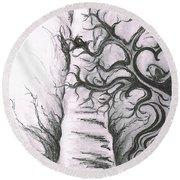 Tree Of Love Round Beach Towel