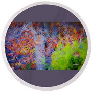 Tree Of Many Colors Round Beach Towel