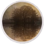 Tree Reflections II Round Beach Towel