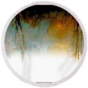 Tree Reflections IIi Round Beach Towel