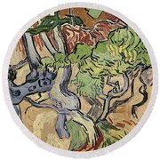Tree Roots Round Beach Towel by Vincent Van Gogh