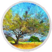 Tree Series 64 Round Beach Towel