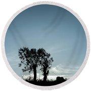 Tree Silhouette II Round Beach Towel