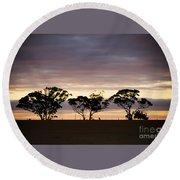 Tree Silhouette Round Beach Towel