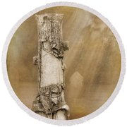 Tree Stump 2 The Forgotten Series 15 Round Beach Towel