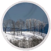 Tree Topper Hill Round Beach Towel