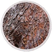 Tree Trunk Abstract Round Beach Towel