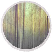 Trees Abstraction Round Beach Towel