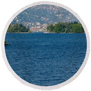 Trees And Islands Round Beach Towel