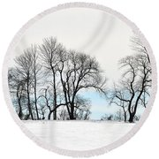 Trees At Tyler Park Round Beach Towel