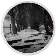 Trees Of The Ida Valley  Round Beach Towel