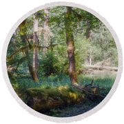 Trees Of The Rainforest Round Beach Towel